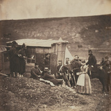 Party of French and English Troops in the Camp of the 4th Dragoon Guards, from an Album of 52… Photographic Print by Roger Fenton