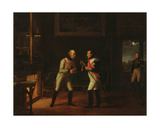 Meeting of Napoleon Bonaparte (1769-1821) and Archduke Charles (1771-1847) of Austria at… Giclee Print by Marie Nicolas Ponce-Camus