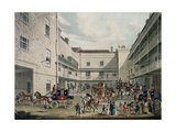 Royal Mail Coaches Leaving the Swan with Two Necks Inn, Lad Lane, Engraved by F. Rosenberg, 1831 Giclee Print by James Pollard