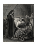 The Death of St. Patrick, Engraved by J.Rogers Giclee Print by Henry Warren