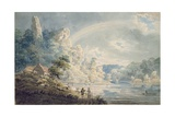 Scene Near the New Weir, Monmouthshire Giclee Print by Thomas Girtin