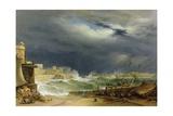 Storm, Malta, 1850 Giclee Print by John or Giovanni Schranz