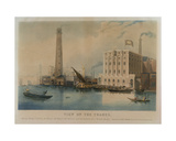 View of Goding's New Lion Ale Brewery, Fowler's Iron Works and Walker's Shot Manufactory,… Giclee Print by Francis Calcraft Turner