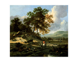 Landscape with Figures, 1679 Giclee Print by Jan Wynants