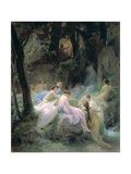 Nymphs Listening to the Songs of Orpheus, 1853 Giclee Print by Charles Francois Jalabert