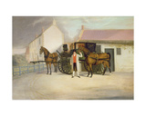 A Groom Holding a Carriage Team Giclee Print by Clifton Tomson