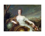 Louise-Elisabeth De France, as the Element of Earth. 1750-1 Giclee Print by Jean-Marc Nattier