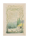 'The Lamb,' Plate 17 from 'Songs of Innocence,' 1789 Giclee Print by William Blake