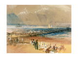 Boats at Margate Pier Giclee Print by J. M. W. Turner