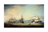 East Indiaman Ceres Off St Helena, 1788 Giclee Print by Thomas Luny