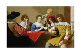 Interior with Soldiers Drinking and Playing Cards, 1635 Giclee Print by Jacob Van Oost