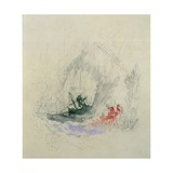 Fire at Sea, a Design for a Vignette, 1835 Giclee Print by J. M. W. Turner