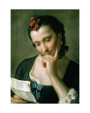 A Young Woman Reading a Love Letter Giclee Print by Pietro Antonio Rotari