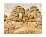 Narain - Hitthee, Near Kathmandoo, Nepal Giclee Print by Dr. Henry Ambrose Oldfield