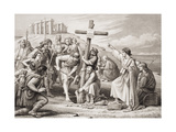 The First Preaching of Christianity in Britain, from 'Illustrations of English and Scottish… Giclee Print by Charles West Cope
