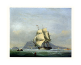 H.M.S. Pique under Sail Giclee Print by Nicholas Matthews Condy