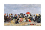 Figures on a Beach, 1884 Giclee Print by Eugène Boudin