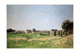 Landscape in Saulce, Yonne Giclee Print by Henri-Joseph Harpignies