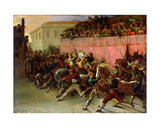 The Riderless Racers at Rome, 1817 Giclee Print by Theodore Gericault