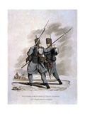 Soldiers of the 1st Regiment of Foot Guards in Marching Order, from 'Costumes of the Army of the… Giclee Print by Charles Hamilton Smith