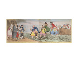Le Debarquement Du Chevalier John Bull Et De Sa Famille a Boulogne Sur Mer, or the Landing of Sir… Giclee Print by Henry William Bunbury