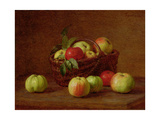 Apples in a Basket and on a Table, 1888 Giclee Print by Henri Fantin-Latour
