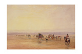 On Lancaster Sands, Sunset (Crossing Lancaster Sands) C.1835 Giclee Print by David Cox