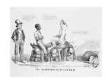 'The Democratic Platform' Political Cartoon Commenting on the Democratic Party's Standing on… Giclee Print