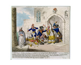 Consequences of a Successful French Invasion, or We Fly on the Wings of the Wind to Save the… Giclee Print by James Gillray