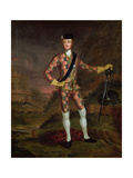 The Harlequin Portrait of Prince Charles Edward Stuart (1720-88) C.1745 Giclee Print by John Worsdale