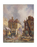 Old Hungerford Market from the River, London, C.1810 Giclee Print by George Sidney Shepherd