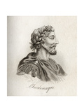 Charlemagne, King of the Franks Giclee Print by J.W. Cook