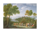 An Extensive Italianate Landscape with a Sacrifice, 1728 Giclee Print by Hendrik Van Lint