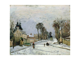 The Versailles Road at Louveciennes, 1869 Giclee Print by Camille Pissarro