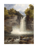 Ruthven Falls, North Wales Giclee Print by John Brandon Smith