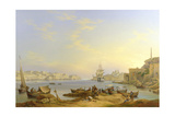 Grand Harbour, Valletta, Malta, 1850 Giclee Print by John or Giovanni Schranz