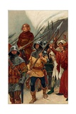 'Surrounded by Armed Men, Wallace Was Taken to Westminster Hall to Be Tried as a Traitor',… Giclee Print by Gordon Frederick Browne