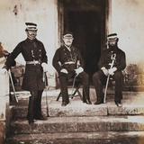 Major-General Henry Frederik Lockyer and Two of His Staff, from an Album of 52 Photographs… Photographic Print by Roger Fenton