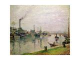 L'Ile La Croix a Rouen, 1883 Giclee Print by Camille Pissarro