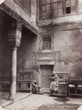 Courtyard of an Arabic House in Egypt, 1870 Photographic Print by Abdullah Freres