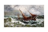 Storm Driven Off Scarborough Giclee Print by Thomas Rose Miles