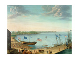 Launching of the Ship 'Fame', 1802 Giclee Print by George Ropes