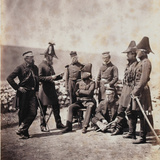 Lieutenant-General Sir George Brown and Staff, from an Album of 52 Photographs Associated with… Photographic Print by Roger Fenton