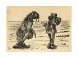The Walrus and the Carpenter, Illustration from 'Through the Looking Glass' by Lewis Carroll… Giclee Print by John Tenniel