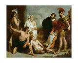 The Romans Teaching the Mechanical Arts to the Ancient Britons, 1831 Giclee Print by Henry Perronet Briggs