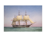 '50-Gun Frigate Hms 'Arethusa', 1876 Giclee Print by William Frederick Mitchell