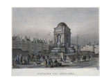 The Fountain of the Innocents, Paris, Engraved by Frederic Martens (1809-75) 1832 Giclee Print by Carlo Gilio