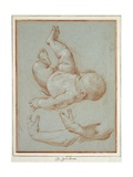 The Infant Romulus and Two Studies of a Man's Left Arm Giclee Print by Carlo Maratta or Maratti