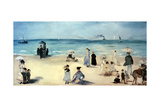 Beach Scene Giclee Print by Edouard Manet