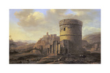 Roman Landscape: the Tomb of Cecilia Metella Giclee Print by Jacob de Heusch